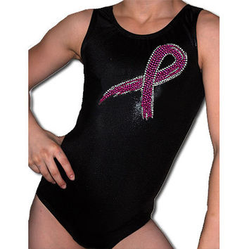 Gymnastics Leotards Girls Mystique Pink Ribbon by AEROLeotards