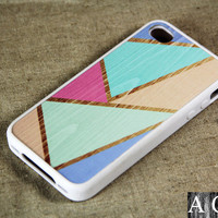 Color Piece iPhone 4 iPhone 4S Case, Rubber Material Full Protection
