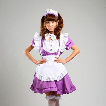 7 styles Japanese Sweet Maid Dress anime Inu Boku Secret Service Cosplay Costumes Lolita Apron Uniform Dress Set Inu x Boku SS