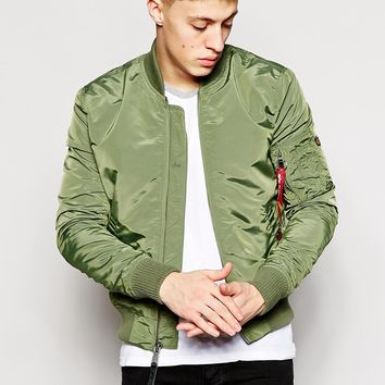 Alpha Industries MA1 Bomber Jacket Slim Fit