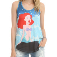 Disney The Little Mermaid Rock Wave Girls Tank Top