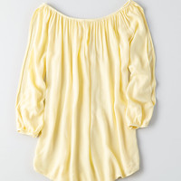 Don't Ask Why Split Sleeve Top, Yellow