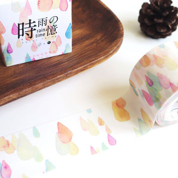 Rain Time washi masking tape mt