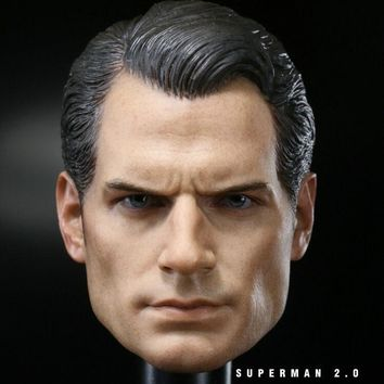 """Custom 1/6 Scale Henry Cavill Batman v Superman 2 Head Sculpt For Hot Toys Body for 12"""" Action Figure doll Toys soldier model"""