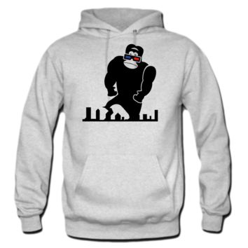 3D GORILLA RAMPAGE GEEK LIKES TO TRASH THIS CITY hoodie