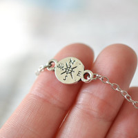 Dainty Compass Necklace, Wanderlust Necklace, Travel Jewelry, Graduation Gift, Traveler Gift, Tiny Compass Jewelry, Dainty Necklace