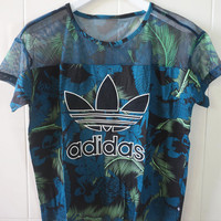 adidas Hawaii Mesh Womens Tee T-shirt | Love Q333