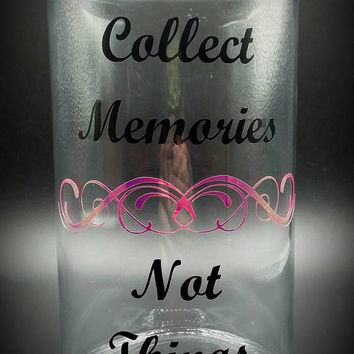 Glass Memory Jar Vinyl Decal Black and Holographic
