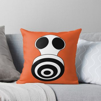 'Faces: Keep Breathing' Throw Pillow by VrijFormaat