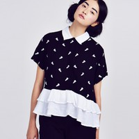 Lazy Oaf x Casper Frill Shirt - Shirts - Categories - Womens