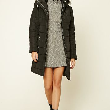 Hooded Longline Puffer Jacket