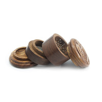 Four Part Wood Grinder for Herbs - 2 Inches - Assorted Carving