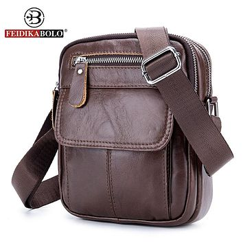 Genuine Leather Bag Men Messenger Bags Men's Cross body Bag Small Leather Handbags Satchel Man Satchels Shoulder Bags