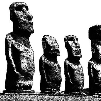 Easter Island Statues png clip art digital download graphics image printable for scrapbooking cards tags totes commercial use
