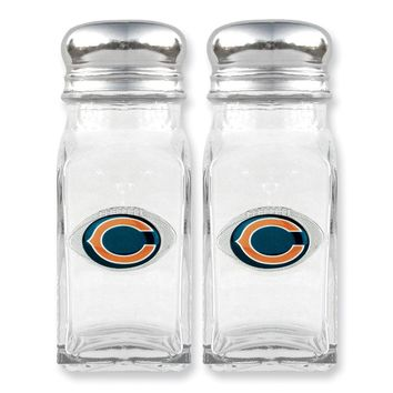 NFL Bears Glass Salt and Pepper Shakers - Etching Personalized Gift Item