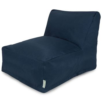 Navy Blue Solid Bean Bag Chair Lounger