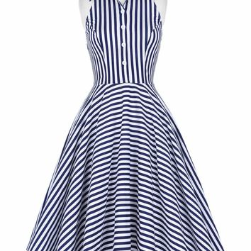 Stripes Galore Beach Dress