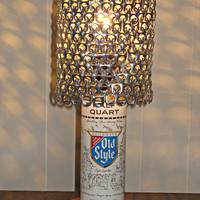 Vintage Old Style Beer Can Lamp With Pull Tab Lampshade - The Mancave Essential