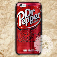 Dr Pepper iPhone 4/4S, 5/5S, 5C Series, Samsung Galaxy S3, Samsung Galaxy S4, Samsung Galaxy S5 - Hard Plastic, Rubber Case