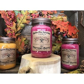 Harvest-Berry Natural Hand Poured Soy Candles