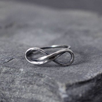 Infinitity ring Valentines day valentines jewelry by HapaGirls