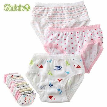 12 Pcs/Lot 100% Organic Cotton Girls Briefs Baby Underwear High Quality Kids Briefs Shorts Panties For Children's Clothes 2-8 y