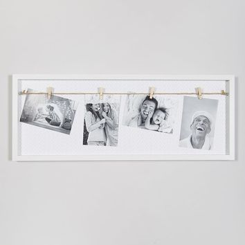 Clip Photo Frame (65cm x 25cm) – White