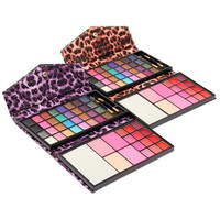 32Colors Makeup Eyeshadow Pro Palette Blush Lip Gloss Kit With Mirror Brushes Box Cosmetic Set Beauty Tools Hot Sale