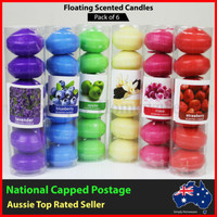Scented Floating Candles - Pack of 6