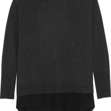 Vince - Silk-trimmed wool and cashmere-blend sweater