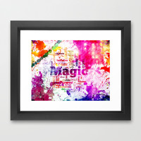 LET MAGIC BEGIN Framed Art Print by Chrisb Marquez