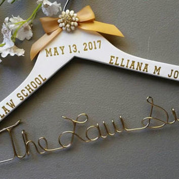 Personalized Attorney/Lawyer Hanger,New Graduate, Great Gift for the Graduating Attorney/Lawyer