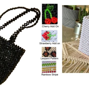 Vintage Retro Custom Beads Bag Beaded Purse Bag