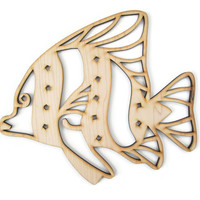 Tropical Fish DIY wooden cut out