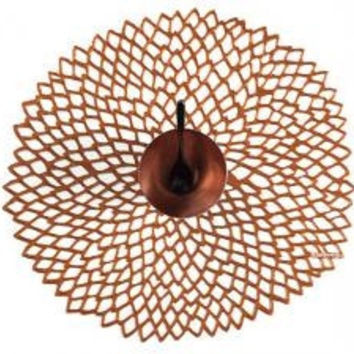 Chilewich Pressed Dahlia Placemat S/4 | Rose Gold
