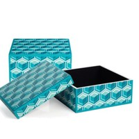 Geo Honeycomb Box - Aquamarine | Office | Storage-organization | Decor | Z Gallerie