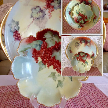 Haviland Limoges Red Currant Bowl Set