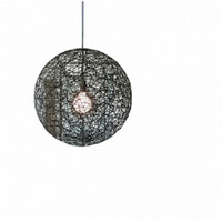 D250mm Creative modern euro vintage rattan ball pendant lamp light chandeliers