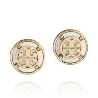 Tory Burch Wren Logo Button Earring
