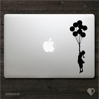 Banksy Girl with balloons Macbook Decal and iPad Decal