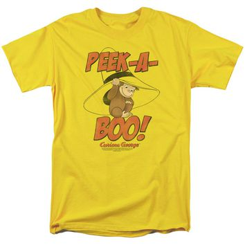 Curious George - Peek A Boo Short Sleeve Adult 18/1