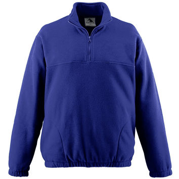 Augusta 3531 Youth Chill Fleece Half-Zip Pullover - Purple