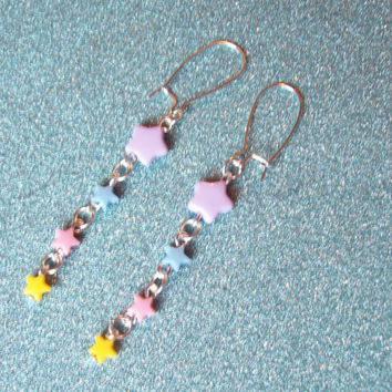 Pastel Shooting Star Earrings II