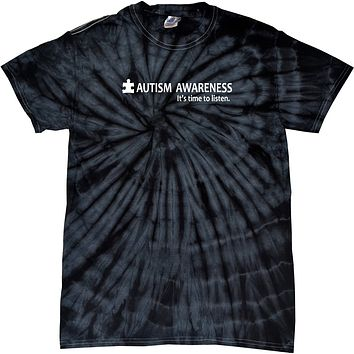 Buy Cool Shirts Autism Awareness Time to Listen Spider Tie Dye Shirt