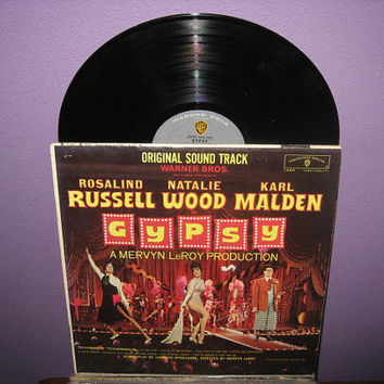 Vinyl Record Album Gypsy Original Soundtrack LP 1962 Musical Classic Rosalind Russell Natalie Wood