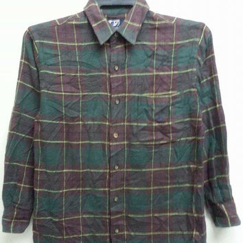 Sale Awesome Vintage 1990s Polo by Ralph Lauren Plaid Flannel Shirt (For Women)
