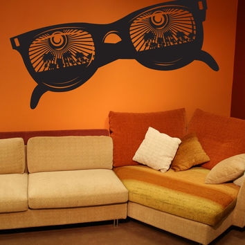 Vinyl Wall Decal Sticker Paradise Sunglasses #1121
