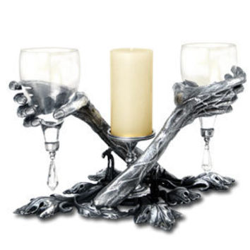 Love Beyond the Grave Intimity Glass Set - Goblets & Tankards - Home Stuff - Gothic, Vampire & Steampunk stuff at GothicPlus.com (Powered by CubeCart)