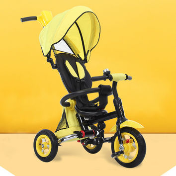 Trolley children high quality round folding inflatable umbrella handle cart wheel baby baby stroller pedal