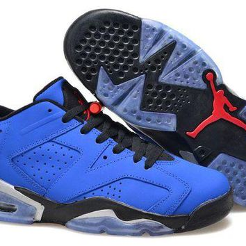ONETOW Jacklish Air Jordan 6 Retro Low Eminem Custom Royal Blue/black-grey Online